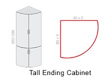 Tall Ending Cabinet