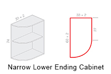 Narrow Lower Ending Cabinet