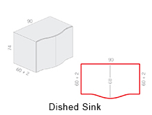 Dished Sink